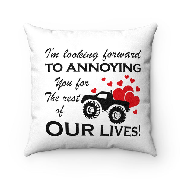 Creative Gift Ideas For Fiance And Fiancee - Love Truck Pillowcase - Valentine's Day Gift
