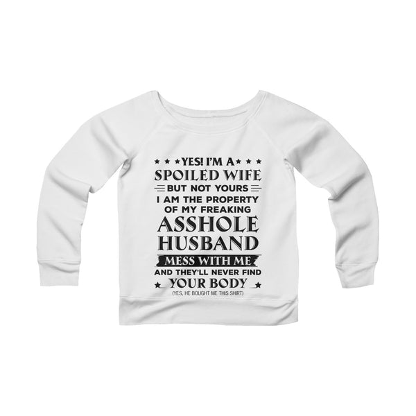 Asshole Husband Off-shoulder Sweatshirt - Christmas Gift For Couples