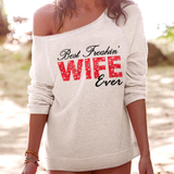 Best Wife Off-shoulder Sweatshirt - Christmas Gift For Couples