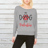 Dog Is My Valentine Off-shoulder Sweatshirt - Christmas Gift For Couples