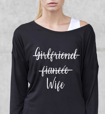 Girlfriend Fiancée Wife  Off-shoulder Sweatshirt - Christmas Gift For Couples