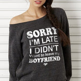 Not Leave My Boyfriend Off-shoulder Sweatshirt - Christmas Gift For Couples