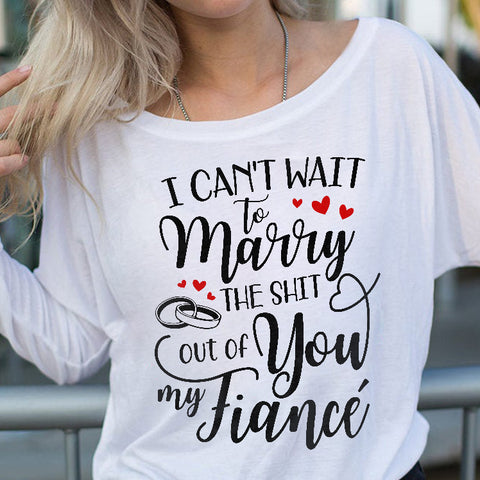 Can't Wait To Marry You Off-shoulder Sweatshirt - Magic Proposal