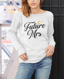 Future Mrs Off-shoulder Sweatshirt - Valentine's Day Gift