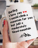 I Would Climb A Moderately Sized Mountain For You Mug