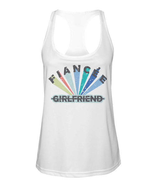 Fiancee Female Romantic Gift For Her - Colorful Girlfriend Tank Top - Christmas Proposal Gift