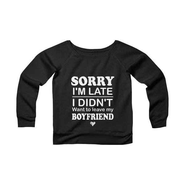 Not Leave My Boyfriend Off-shoulder Sweatshirt - Magic Proposal