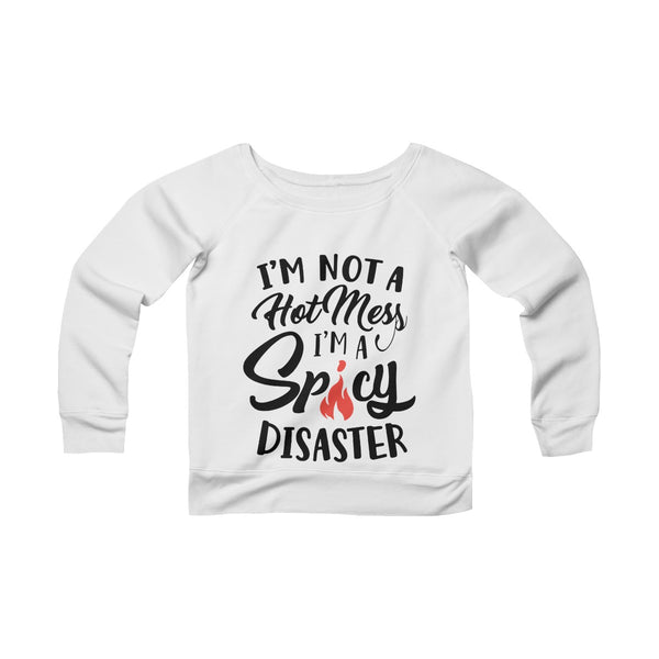 Spicy Disaster Off-shoulder Sweatshirt - Valentine's Day Gift