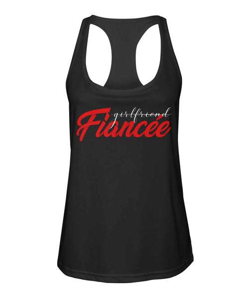 Fiancee Female Best Gift Ideas For Her - Red Fiancée Tank Top - Valentine's Day Gift