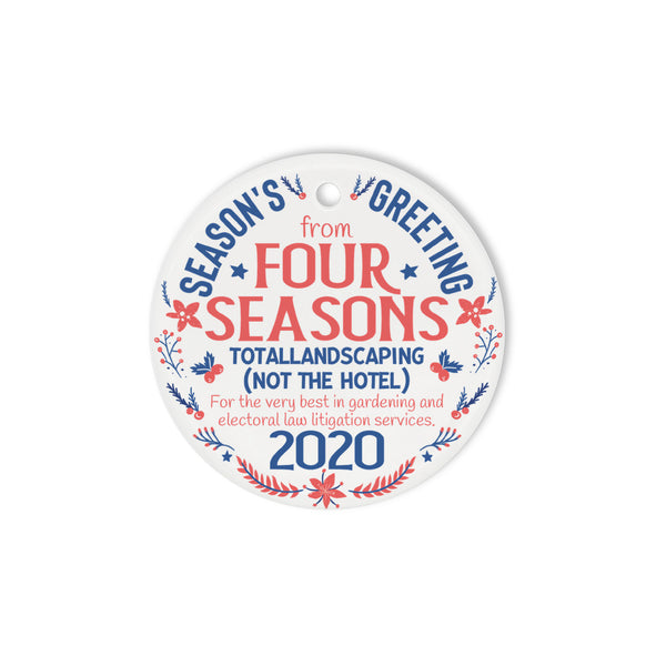 Four Seasons Circle Ornament (2 sided)