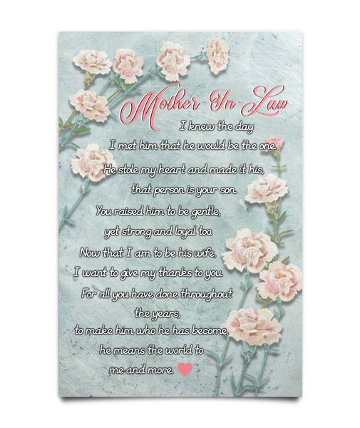 Mother-in-law Gifts Idea - Poem Poster - Christmas Gift For Couples