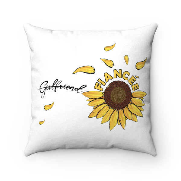Creative Gift Ideas For Fiancee Female - Sunflower Pillow Case - Christmas Gift For Couples