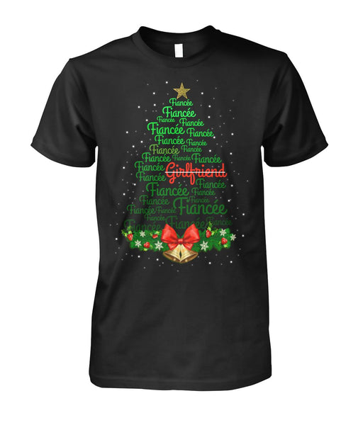 Christmas Tree Fiancee Shirt 2019 - Christmas Gift For Couples