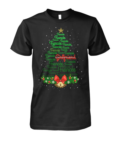 Christmas Tree Fiancee Shirt 2019 - Magic Proposal