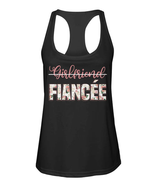 Fiancee Female Romantic Gift Ideas For Her - Girlfriend Fiancée Tank Top - Christmas Gift For Couples