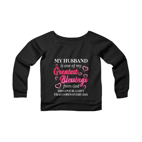 My Greatest Blessings Off-shoulder Sweatshirt - Christmas Gift For Couples