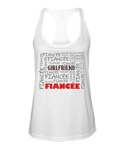 Fiancee Female Best Gift Ideas For Her - Girlfriend Fiancée Tank Top - Valentine's Day Gift