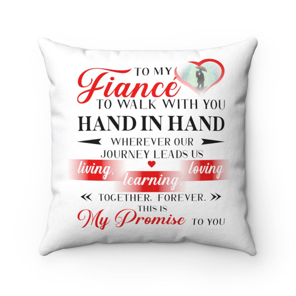 To my Fiancé Pillow - Christmas Gift For Couples