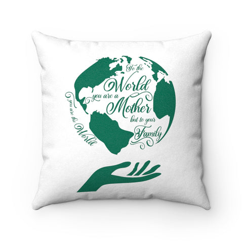 Mother-in-law Pillowcase - Green Earth Pillow - Valentine's Day Gift