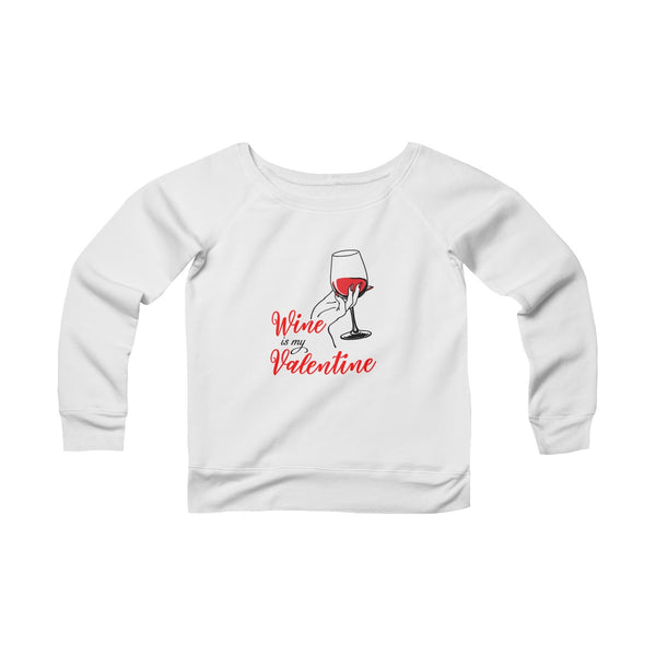 Wine Valentine Off-shoulder Sweatshirt - Christmas Gift For Couples