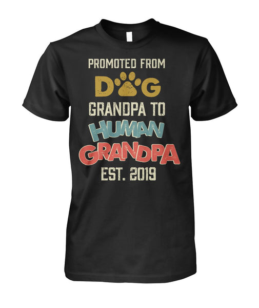 Promoted Dog Grandpa To Human Grandpa Shirt - Valentine's Day Gift