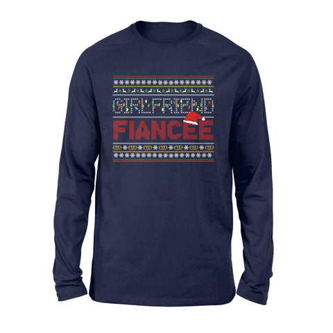 Best Christmas Gift Ideas For Fiancée Female - Long Sleeve T-shirt - Christmas Proposal Gift