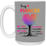 To Fianceé Life Is Complete - Christmas Gift For Couples
