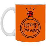Fking  Finally Mug - Christmas Gift For Couples