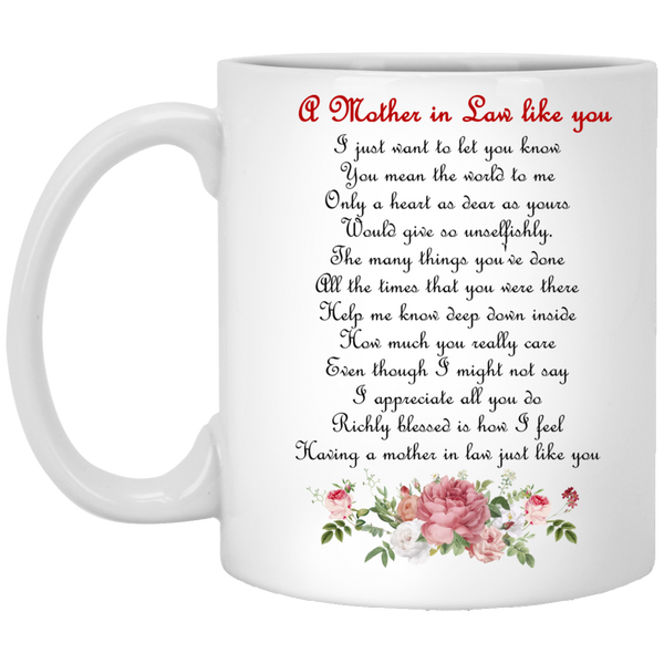 Gifts For Boyfriends Mom - Mother In Law Flower Mug - Christmas Gift For Couples