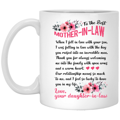Touching Gift Ideas For Mother-in-law - To The Best Mother In Law Mug - Christmas Gift For Couples