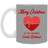 Merry Christmas Favorite Cardio Workout Mug - Christmas Gift For Couples