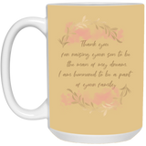 Sentiment Flower Mug For Parents-in-law - Valentine's Day Gift