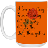 Couples Mug For Fiance And Fiancee Our Story - Magic Proposal