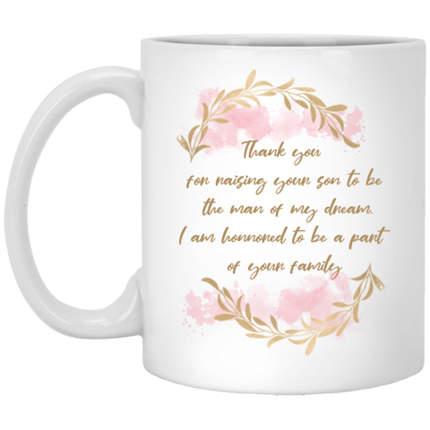 Sentiment Flower Mug For Parents-in-law - Magic Proposal