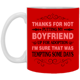 Thank Mother Of Boyfriend Mug - Christmas Gift For Couples