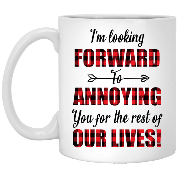 Fiance And Fiancee Romantic Couple Gift - Funny Quote Coffee Mug - Valentine's Day Gift