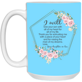 Thank You Mother In Law Flower Mug - Christmas Gift For Couples