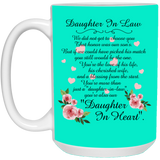 Flower Mugs For Daughter In Law - Christmas Gift For Couples