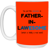 Father In Law Mug - Father In Lawesome - Christmas Gift For Couples