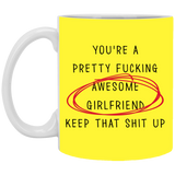 Pretty Fucking Awesome Girlfriend Her - Funny Gift From Boyfriend Fiance - Valentine's Day Gift