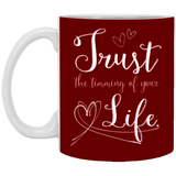 Couples Mugs For Fiance And Fiancee - Trust The Timing Of Your Life - Magic Proposal
