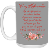 Coffee Mug For Mother-in-law From Bride - Valentine's Day Gift