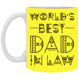 Typography Design Mug For Father-in-law - Christmas Gift For Couples