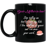 Lovely mug for Mother-in-law - Brain - Christmas Gift For Couples