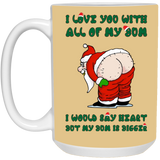 Relationship Mug Santa Claus Butt - Christmas Gift For Couples