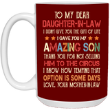 To My Dear Daughter-In-Law Colorful Mug - Christmas Gift For Couples