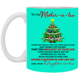 To My Mother In law - Christmas Tree Mug - Christmas Gift For Couples