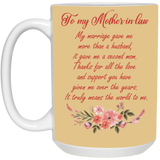 Coffee Mug For Mother-in-law From Bride - Christmas Gift For Couples
