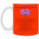 To My Mother In Law Mug - Valentine's Day Gift