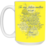 Mother In Law Touching Gift Ideas - To My Future Mother In Law Mug - Valentine's Day Gift